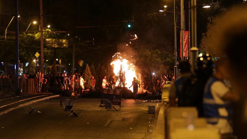 Новый антиправительственный митинг начался в столице Румынии