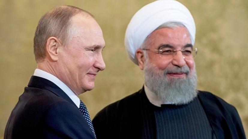 Путин обсудил с Рухани ситуацию в Сирии