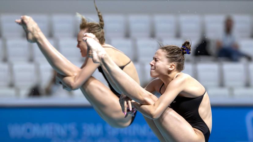 Россиянки Бажина и Ильиных завоевали бронзу в синхронных прыжках на ЧЕ по летним видам спорта