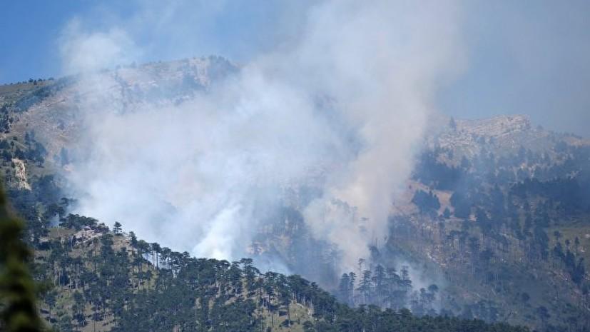 Природный пожар врайоне Ялты локализован