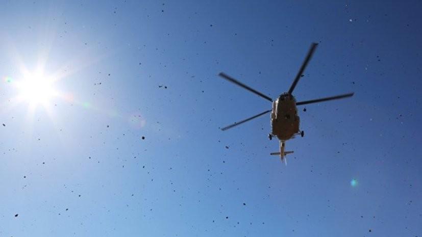 В горах Таджикистанапроизошла жёсткая посадка вертолётас альпинистами