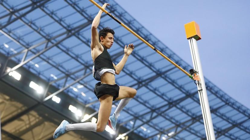 Российский легкоатлет Моргунов стал серебряным призёром ЧЕ в прыжках с шестом