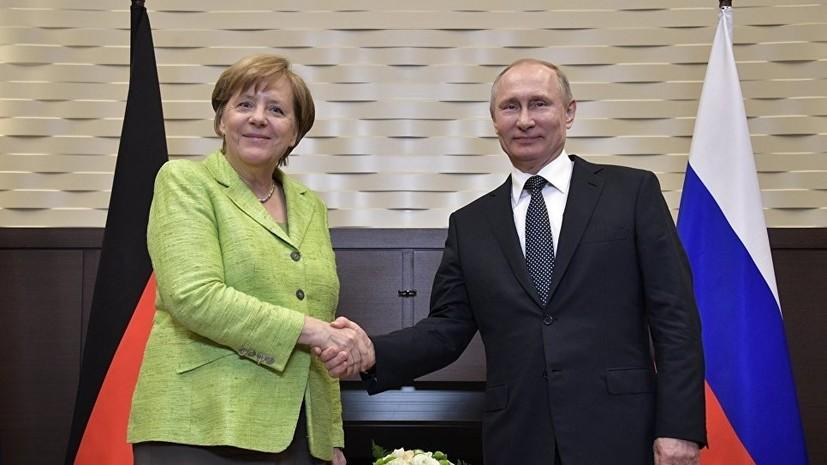 Меркель проведёт с Путиным переговоры в Германии 18 августа