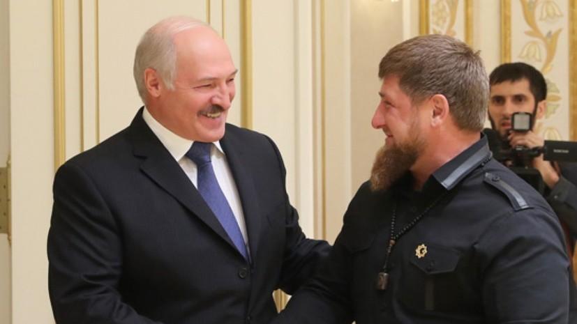 Лукашенко наградил Кадырова орденом Дружбы народов