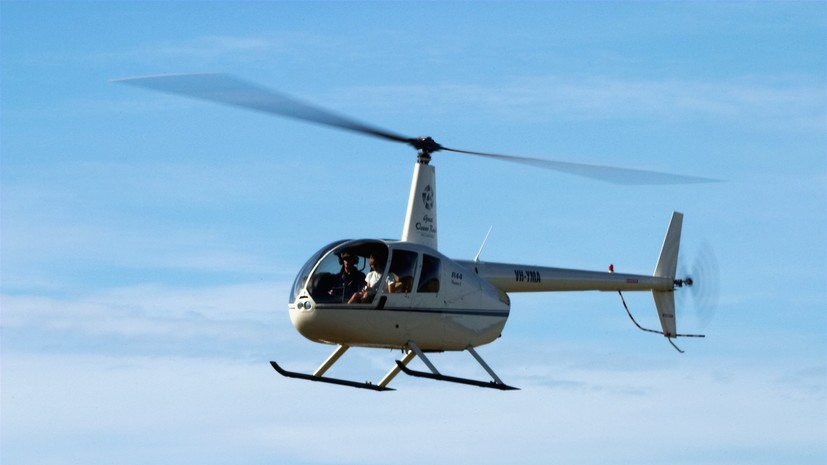 В Рязанской области вертолёт Robinson соврешил жёсткую посадку, в результате