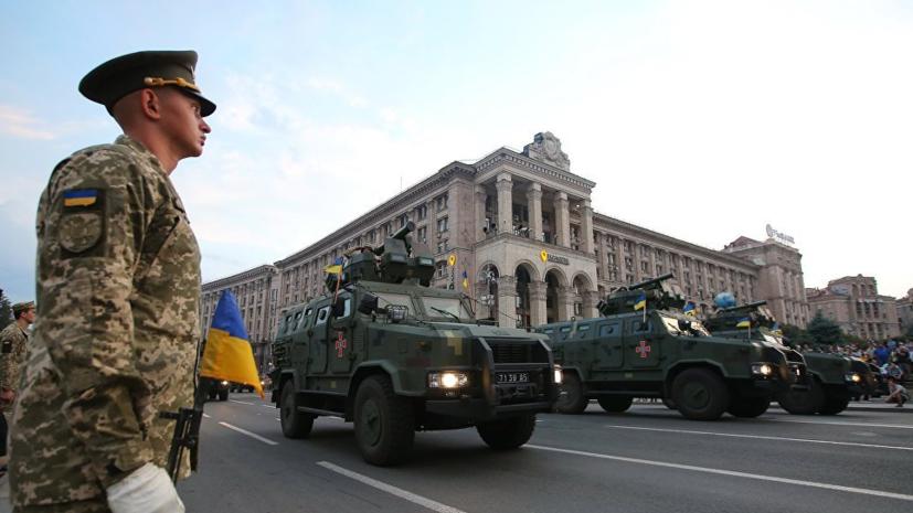 Президент Украины Пётр Порошенко примет военный парад в Киеве на