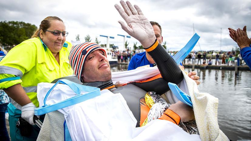 Олимпийский чемпион из Голландии проплыл 163 км и собрал €2,5 млн на борьбу с раком