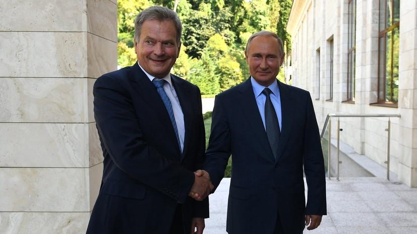 Ниинистё назвал встречу с Путиным «солнечной»