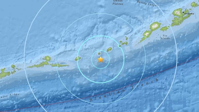 У берегов Аляски произошло землетрясение магнитудой 6,0