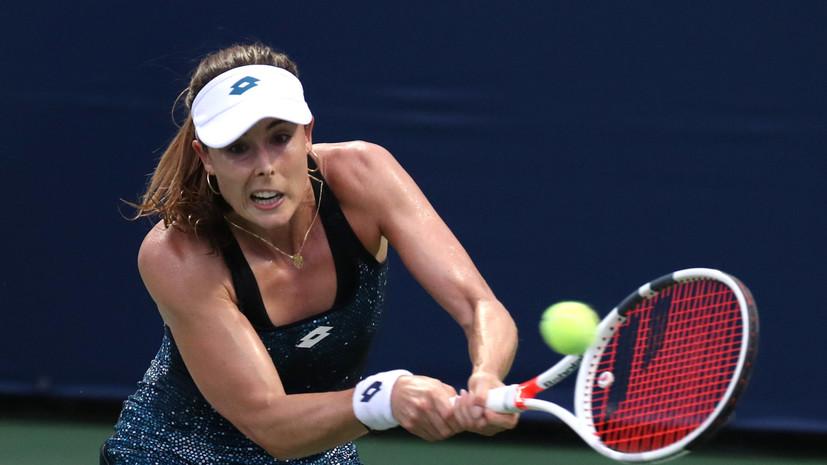Теннисистка Корне получила предупреждение на US Open за снятие футболки на корте