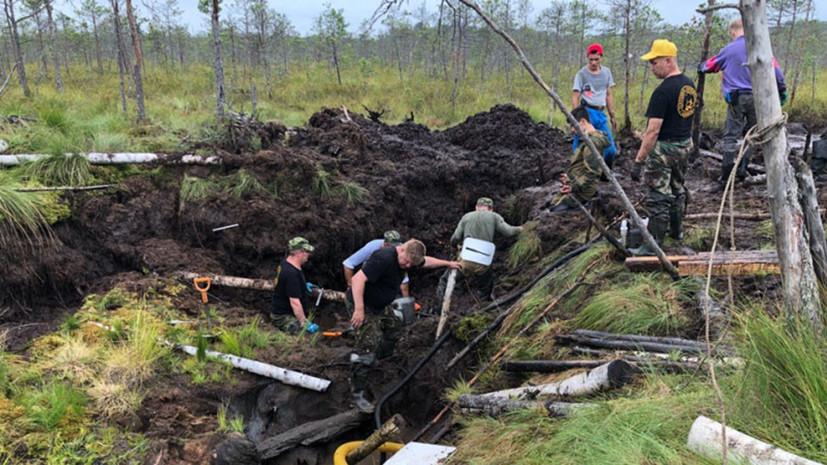 В болоте в Новгородской области обнаружен американский истребитель времён войны