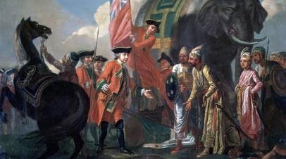 «Роберт Клайв и Мир Джафар после битвы при Плесси», Фрэнсис Хейман