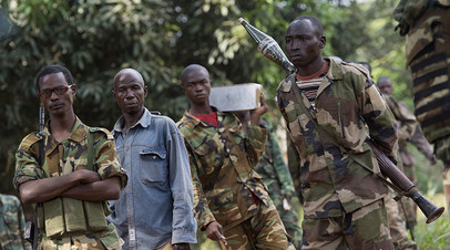 Солдаты армии Центрально-Африканской Республики