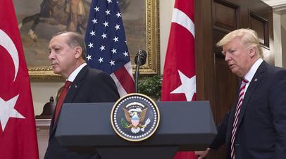 «США проявили серьёзное неуважение»: Эрдоган сообщил об ответных санкциях против американских министров