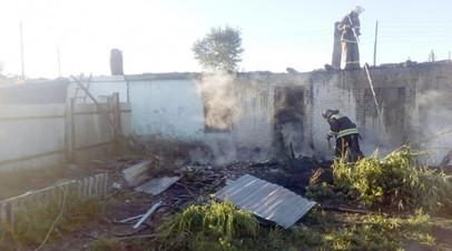 При пожаре в Новосибирской области погибла мать с тремя детьми
