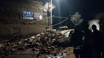 Число пострадавших от землетрясения в Китае увеличилось до восьми