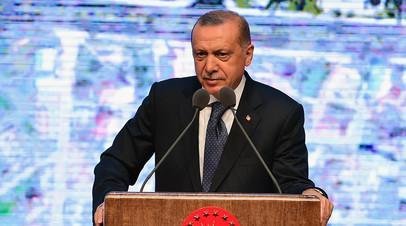 Президент Турции заявил, что власти США пытаются нанести Анкаре «удар в спину»