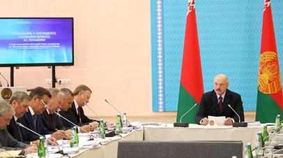 Александр Лукашенко на заседании в Орше