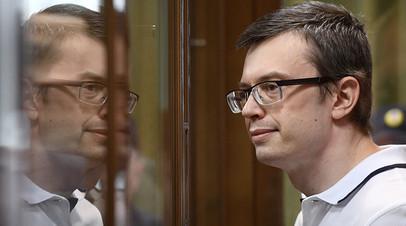 Денис Никандров во время оглашения приговора в Московском городском суде