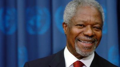 Мэй назвала Кофи Аннана великим лидером