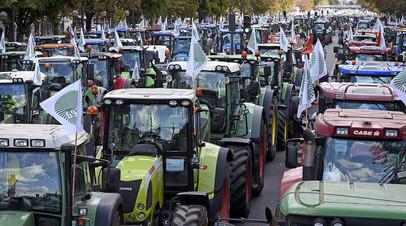 Акция протеста фермеров в Париже, 2015 год