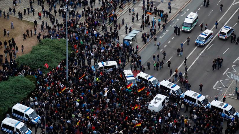 В ходе демонстраций в Хемнице пострадали 11 человек