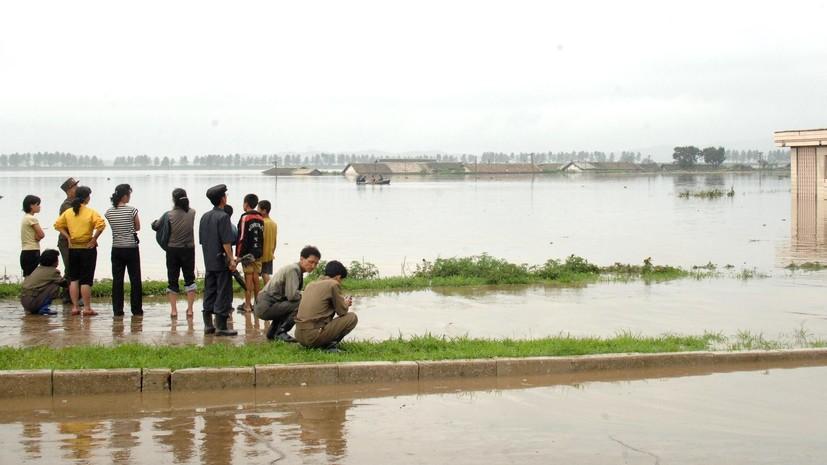 В КНДР в результате наводнения погибли 76 человек