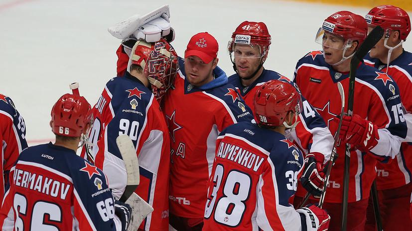 ЦСКА одержал волевую победу над магнитогорским «Металлургом» в матче КХЛ