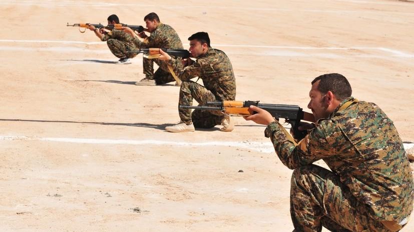 Возглавляемая США коалиция начала военные учения на востоке Сирии