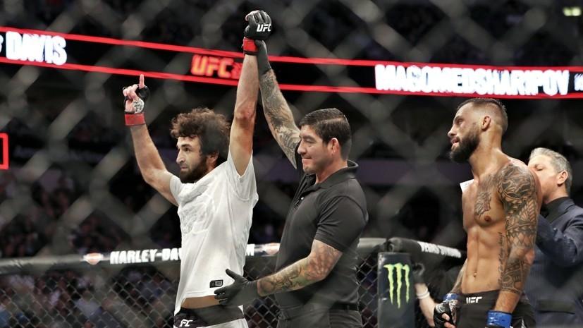 Российский боец Магомедшарипов одержал победу на турнире UFC 228