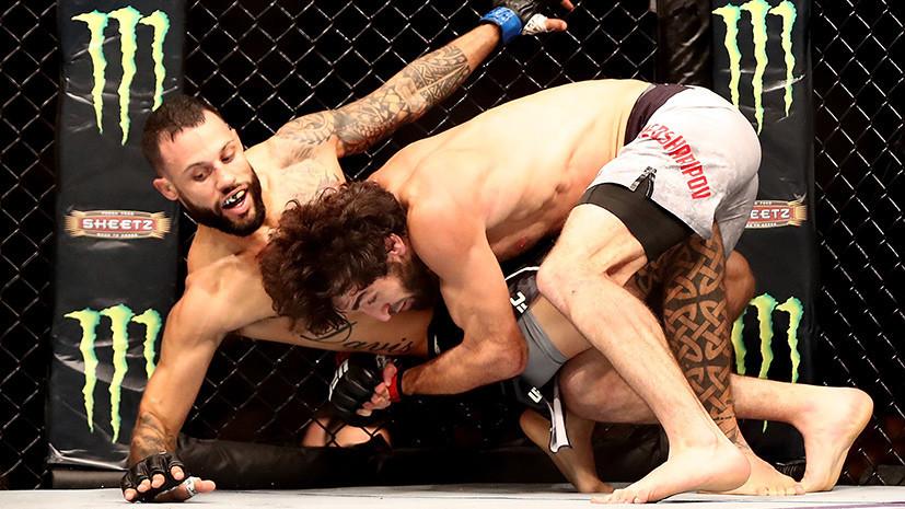 «Силён в каждом из аспектов»: российский боец Магомедшарипов одержал досрочную победу над Дэвисом на UFC 228