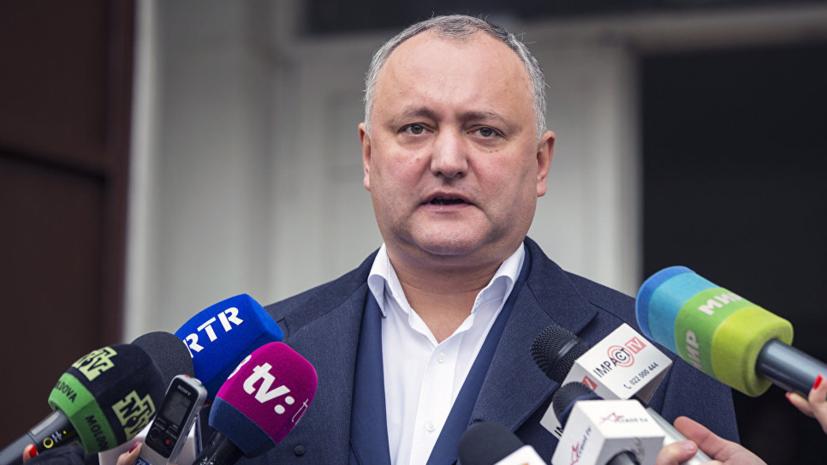 Президента Молдовы госпитализировали после ДТП