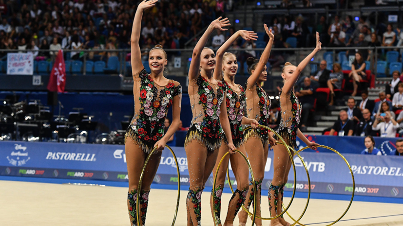 Russian team in rhythmic gymnastics won the gold of the World Cup in