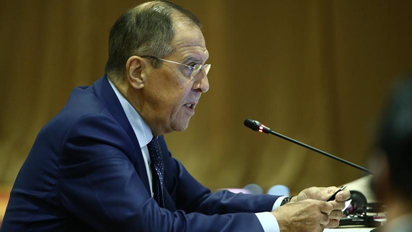 Лавров предостерёг от реализации силового сценария в Донбассе