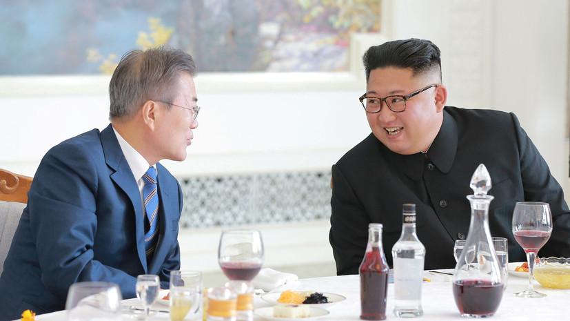 Ким Чен Ын подарил лидеру Южной Кореи две тонны деликатесных грибов