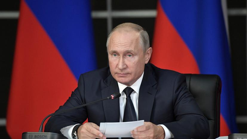 Путин выразил соболезнования Рухани в связи с терактом на параде в Иране