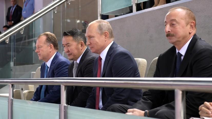 Путин посетил чемпионат мира по дзюдо в Азербайджане