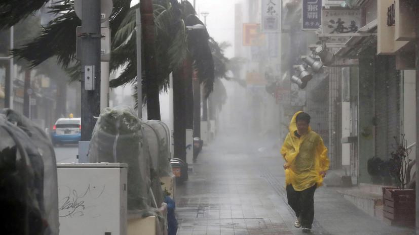Число пострадавших при тайфуне в Японии превысило 60