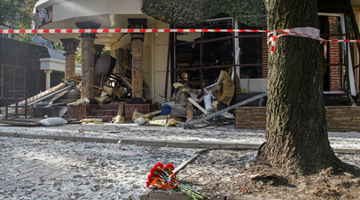 Место гибели Александра Захарченко