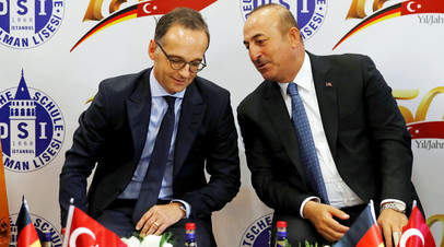 Главы МИД Турции и Германии