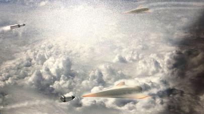 Рисунок будущего средства ПРО Glide Breaker, представленный DARPA