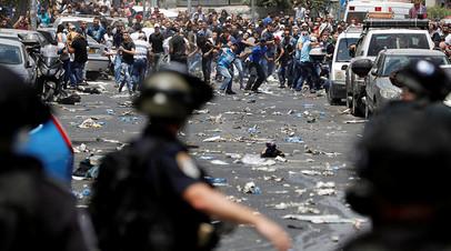 Столкновение израильских силовиков и палестинцев в Старом Иерусалиме