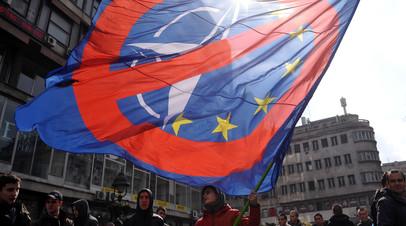 Протест против ЕС и НАТО в Сербии