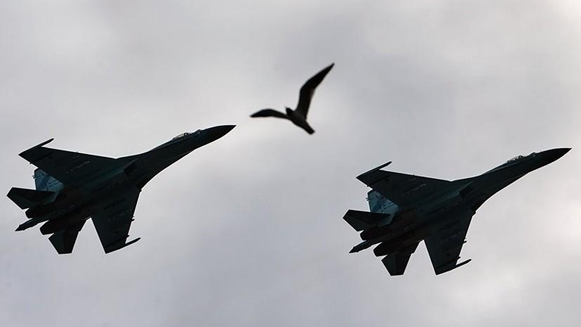 ВСУ показали видео пролёта «российского истребителя» около своих кораблей
