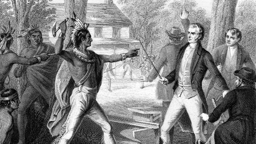 «Индейцев считали расходным материалом»: как вождь Текумсе стал жертвой противостояния Вашингтона и Лондона