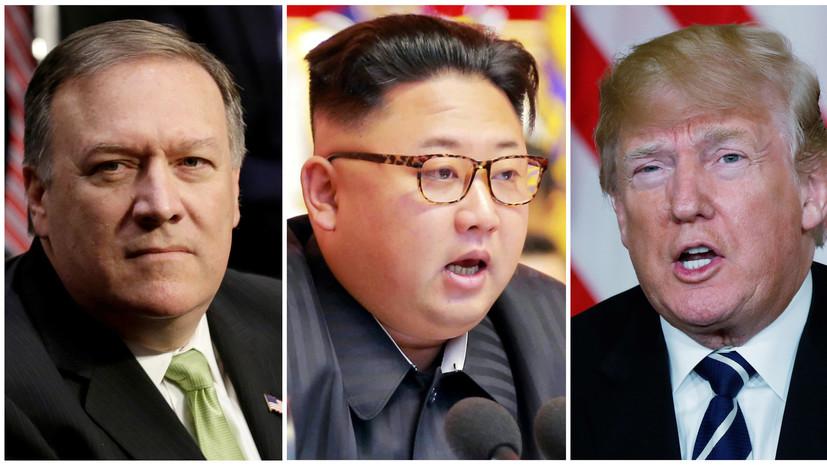 Трамп прокомментировал встречу Помпео и Ким Чен Ына в Пхеньяне