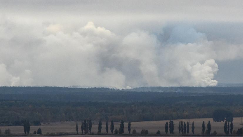 В ВСУ рассказали о масштабе пожара на складах под Черниговом