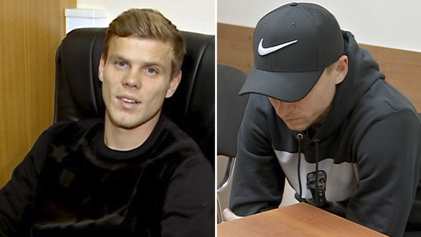«Как объяснить, не знаю»: Кокорин затруднился назвать причину задержания, Мамаев отказался отвечать на вопрос полиции