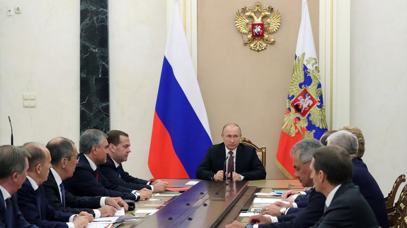 Путин обсудил с Совбезом ситуацию с православной церковью на Украине
