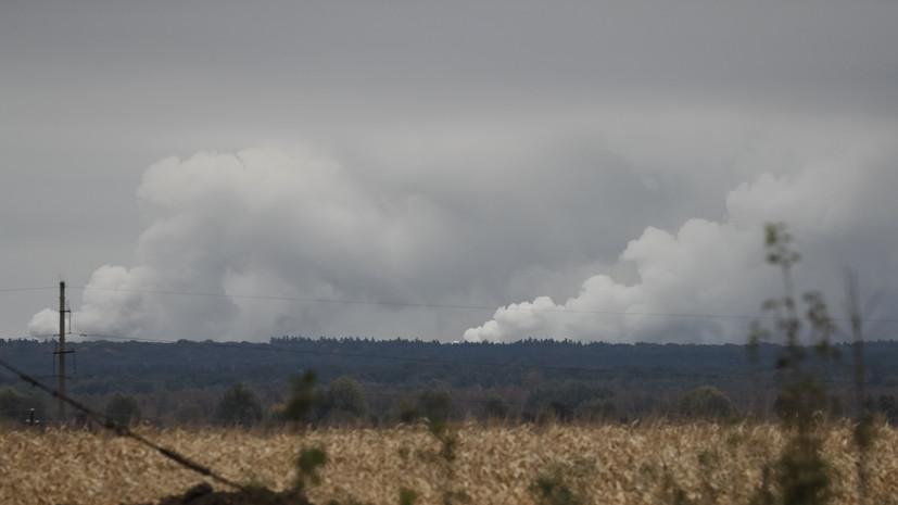 В ГосЧС Украины заявили о возросшей интенсивности взрывов на арсенале в Чернигово